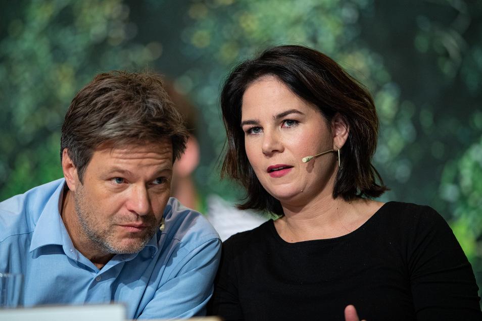 Robert Habeck und Annalena Baerbock, Bundesvorsitzende von Bündnis 90/Die Grünen