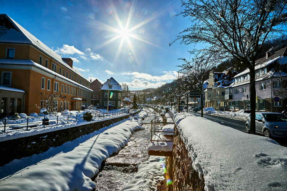 Berggießhübel, ein Kneippkurort-Wintermärchen. Der Winter geht wieder, ob der Kneippkurort-Titel bleibt, wird in den nächsten Monaten entschieden.