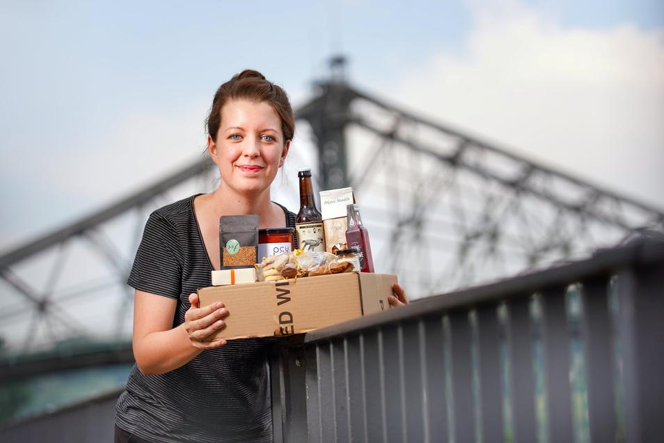 Mit der begehrten Genuss-Box Dresden will Luise Dietzel regionale Firmen unterstützen.