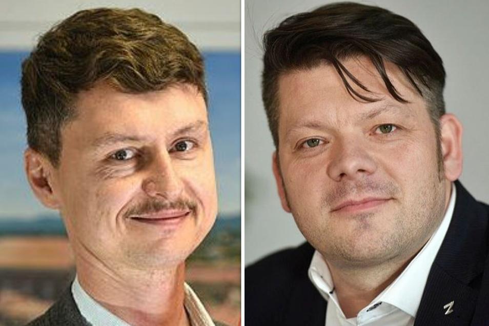 Der Pressesprecher und sein Dienstherr: Zittaus Oberbürgermeister Thomas Zenker (Zkm) hält sich im Fall Grebasch zurück.
