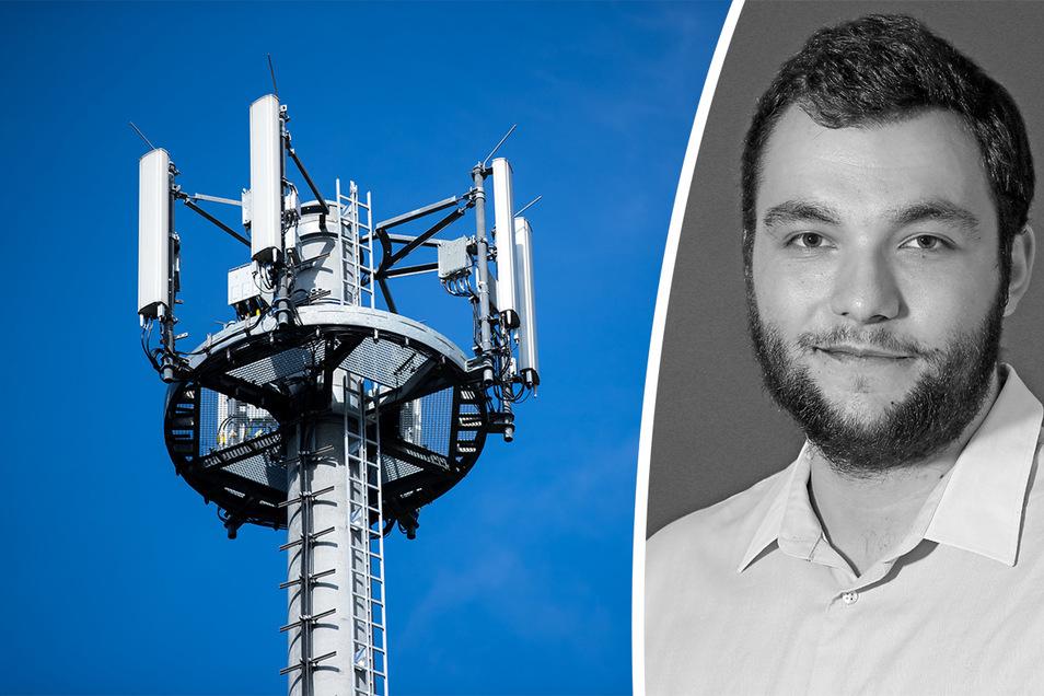 SZ-Volontär Erik-Holm Langhof kommentiert den Streit, um einen neuen Standort eines Mobilfunkmastes in Lüttewitz.