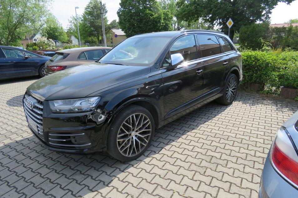 Die Polizei stellte im Zusammenhang mit den Ermittlungen um den Einbruch in das Großenhainer Kaufland bei dem verhafteten Beschuldigten auch diesen Audi SQ7 sicher.