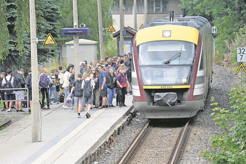 Seit dem Schulstart am 19. August fährt auch die Städtebahn Sachsen wieder durchs Müglitztal. Das soll sich bald ändern.