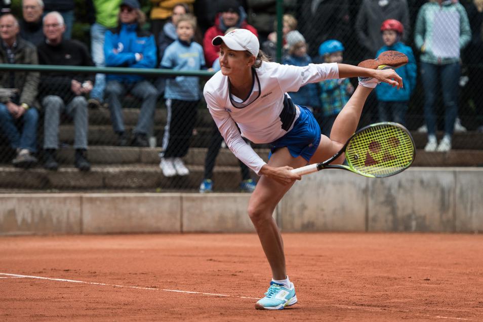 Für Dresden lieferte Varvara Flink ein starkes Match, musste sich aber der Favoritin geschlagen geben.