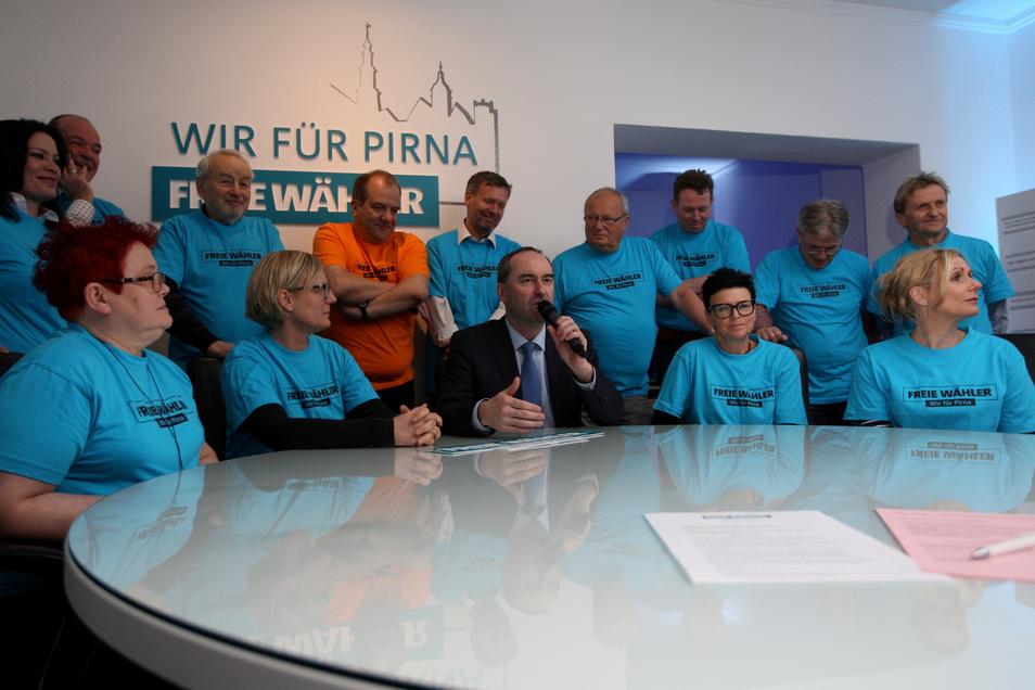 """Pirnas Freie Wähler beim Wahlkampfauftakt 2019: """"Die Kandidaten-Kür war weder manipuliert noch bewusst falsch."""""""