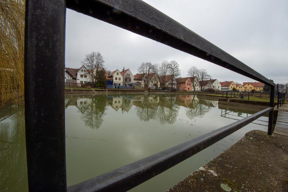 Als Feuerlöschteich dient der Dorfteich in Naundorf derzeit nicht. Auf Empfehlung eines Experten soll die Stadt jedoch Löschwasserzisternen und -behälter schaffen.
