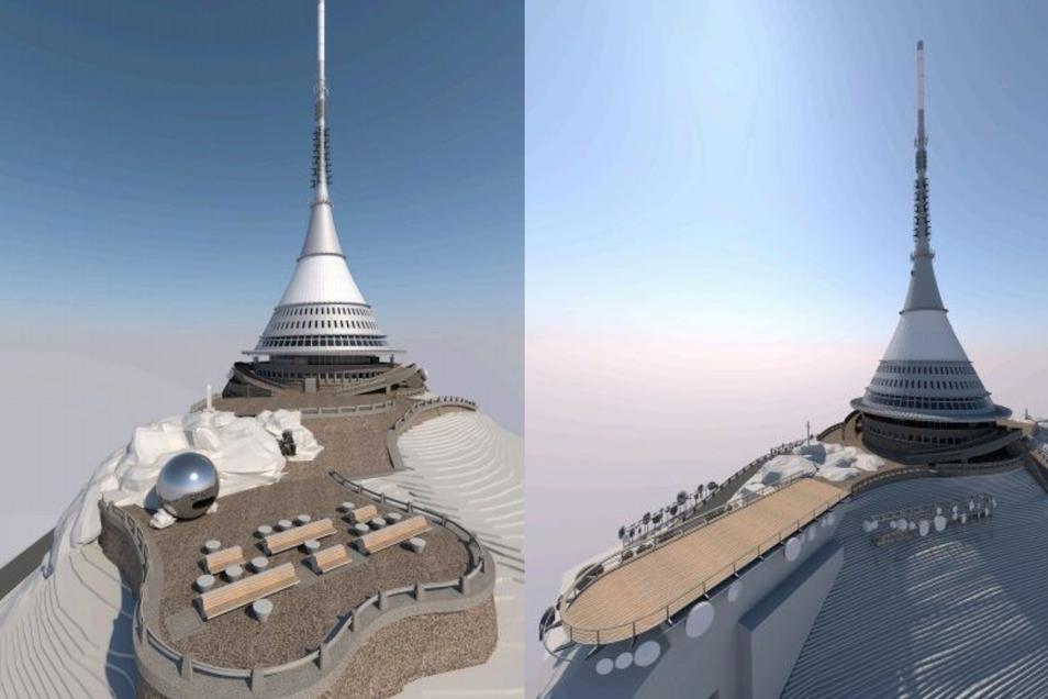 Die Aussichtsplattformen des Jeschken werden unter anderem neu gestaltet.