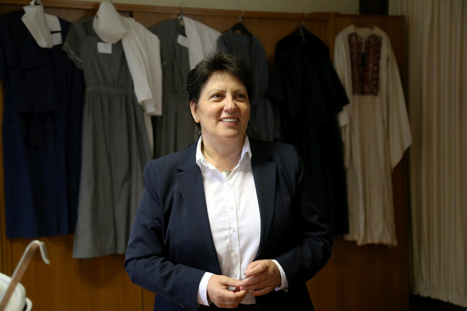 Oberin Schwester Sonja Rönsch in fröhlicheren Tagen. Jetzt muss die Chefin der Diakonissenanstalt Emmaus in Niesky den Corona-Ausbruch im Pflegeheim Abendfrieden bekämpfen.