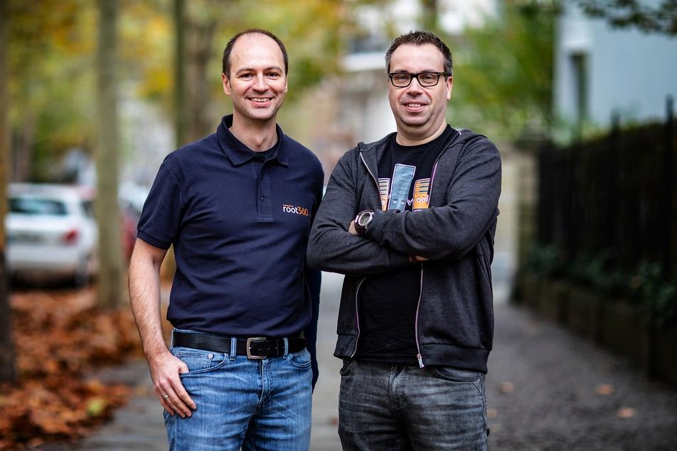 Gründer von root360: Michael Ablass & Steffen Drya (v.l.n.r.).