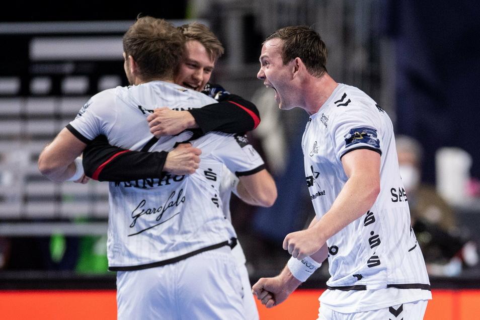 Jubel beim THW Kiel: Zum vierten Mal gewinnt die Mannschaft die Champions League.