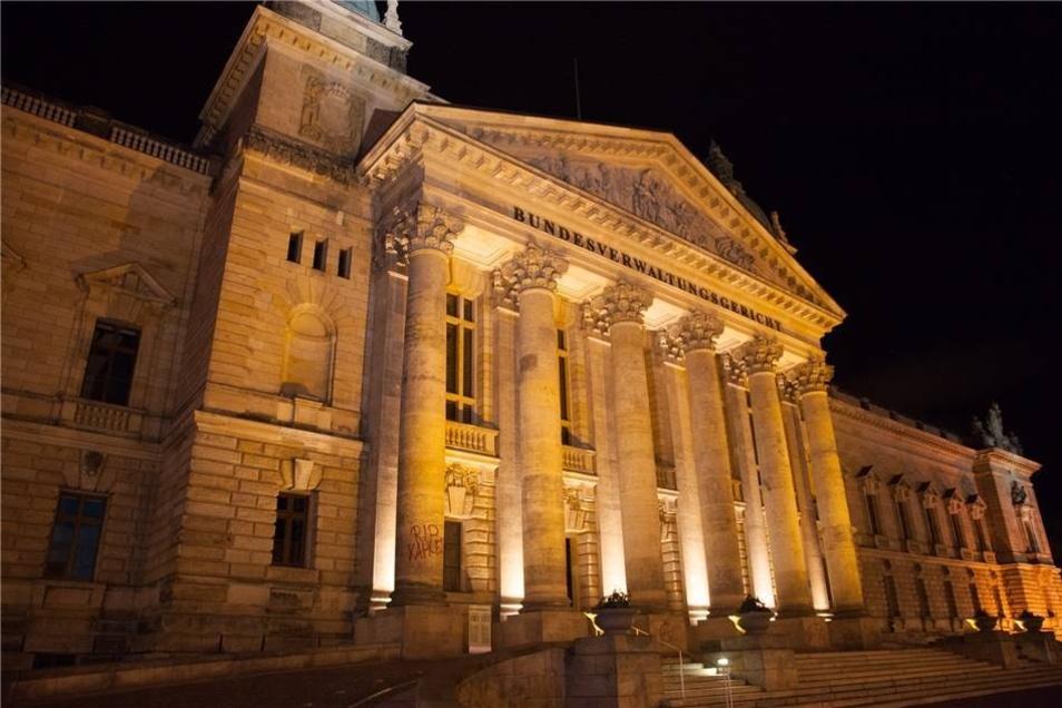 Auch das Bundesverwaltungsgericht wurde mit Graffitis beschmiert.