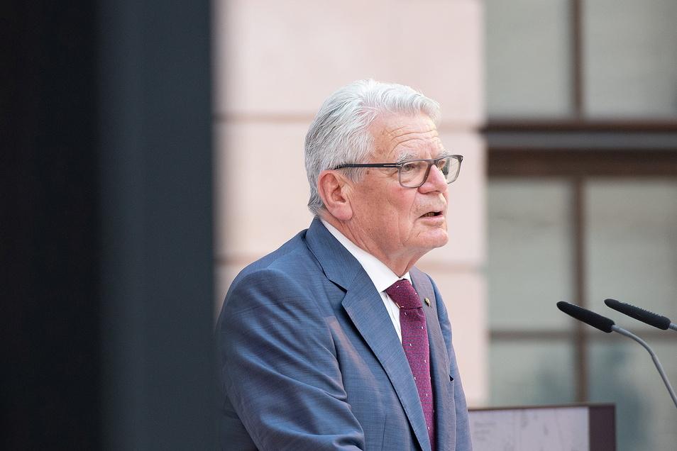 Joachim Gauck, ehemaliger Bundespräsident und ehemaliger Bundesbeauftragter für die Unterlagen der Staatssicherheit der ehemaligen DDR, war am Montag in Mittweida zu Gast.