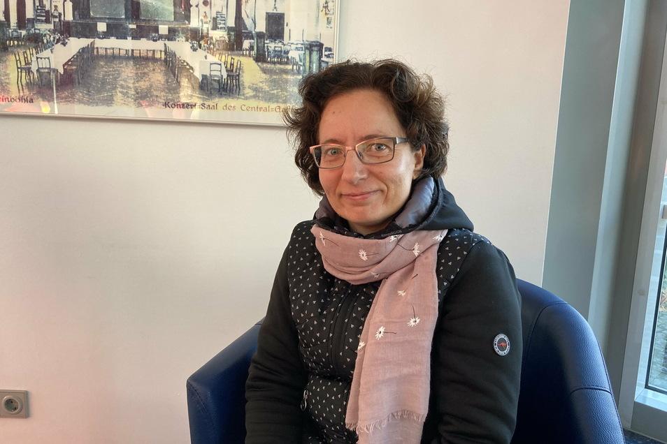 Kerstin Dittrich (47) kümmert sich in Weinböhla schon lange um andere, nun will sie Nachbarn per Internet vernetzen.