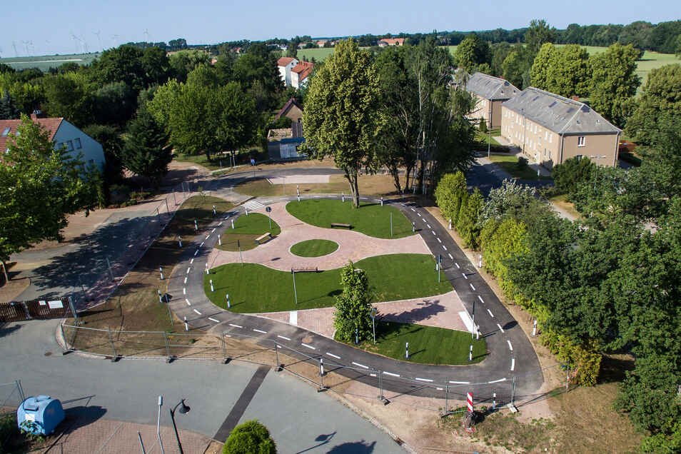 Rund 135.000 Euro Zuschuss gab es aus dem Leader-Programm für den Verkehrsgarten in Ostrau.