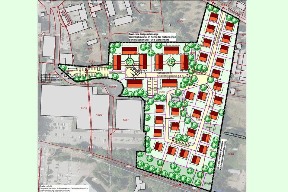 Eine neue Wohnsiedlung soll in Bohnitzsch entstehen. Erste Entwürfe fanden jetzt die Zustimmung der Meißner Stadträte.
