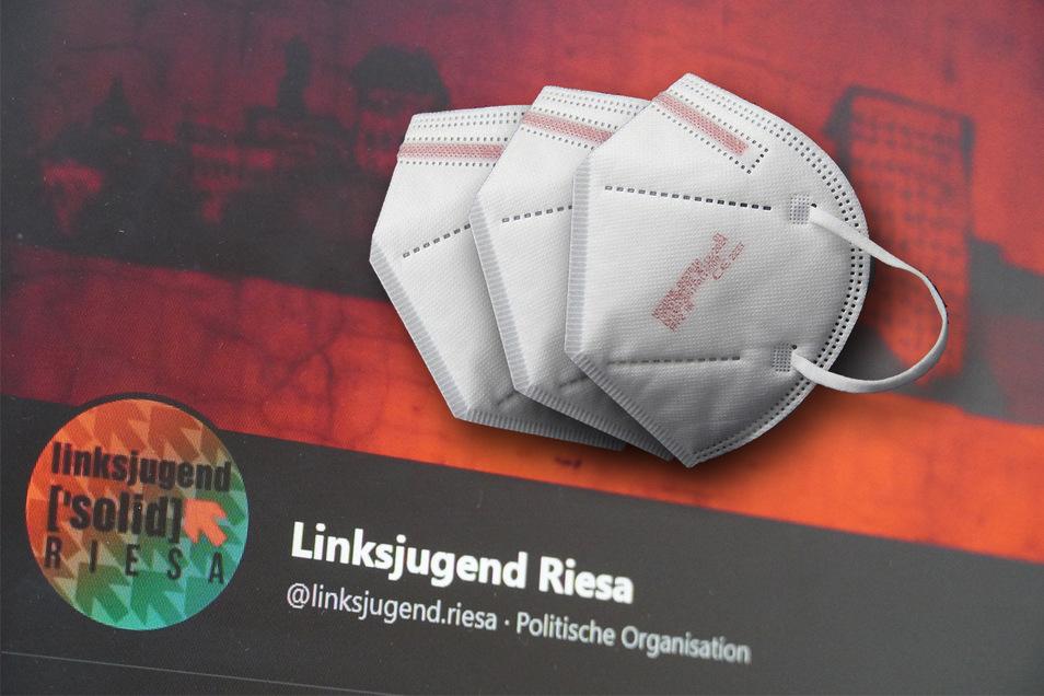 Die 2019 gegründete Riesaer Linksjugend organisiert derzeit eine Schutzmasken-Verteil-Aktion.