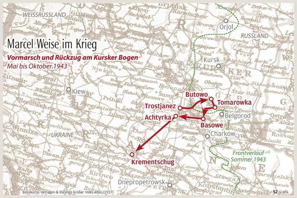 Vormarsch und Rückzug in der Nordostukraine 1943.
