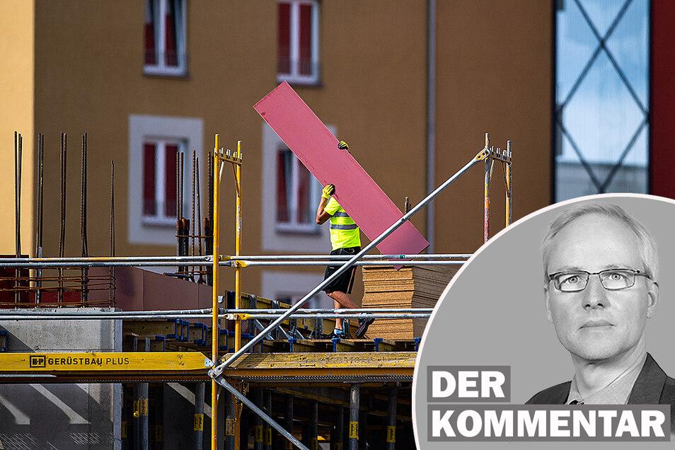 Sachsens Baugewerbe verzeichnet inzwischen sinkende Aufträge.