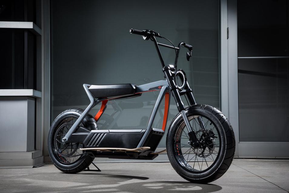 Harley-Davidson: minimalistischer Prototyp mit E-Antrieb.