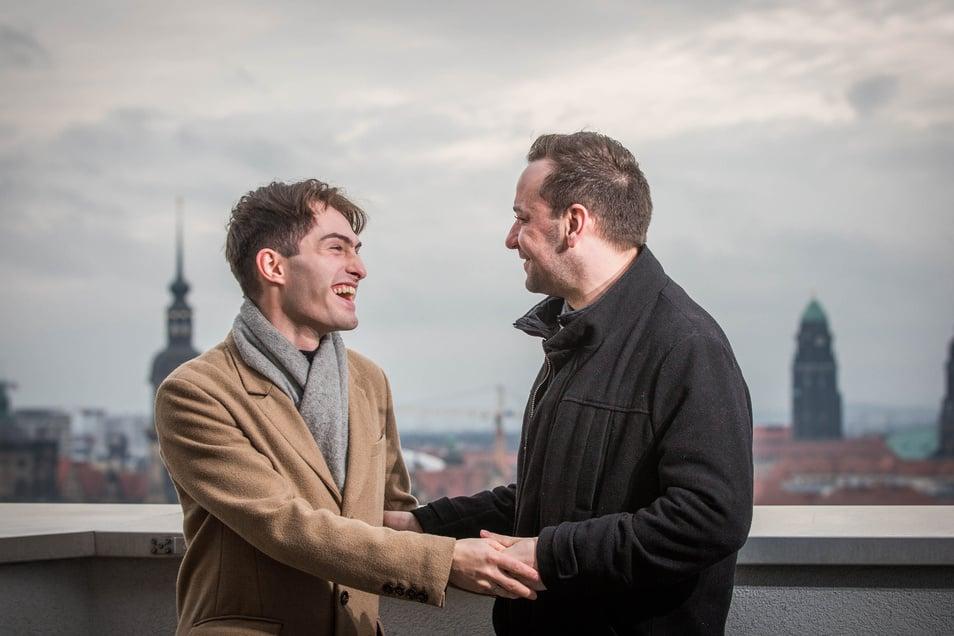 """""""Liebe geht nur bedingungslos"""": Matthias Limmer (l.) steht fest an der Seite seines Freundes Roberto Weinhold. Seine Krankheit ändert daran nichts."""