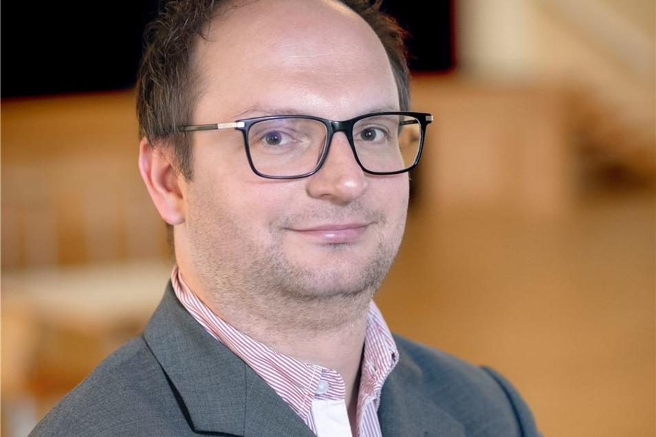 Thomas Kretschmer ist Geschäftsführer der Kulturbetriebsgesellschaft Meißner Land mbH, zu der die Börse gehört.