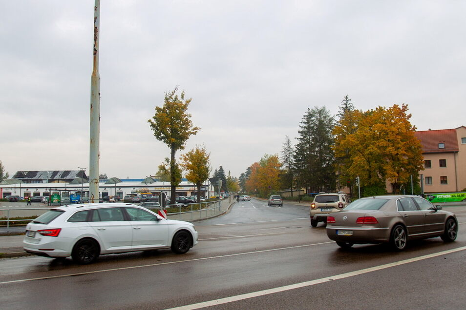 An der Kreuzung S172/Gabelsbergerstraße gibt es in Heidenau in den nächsten Wochen etliche Einschränkungen. Und nicht nur hier.