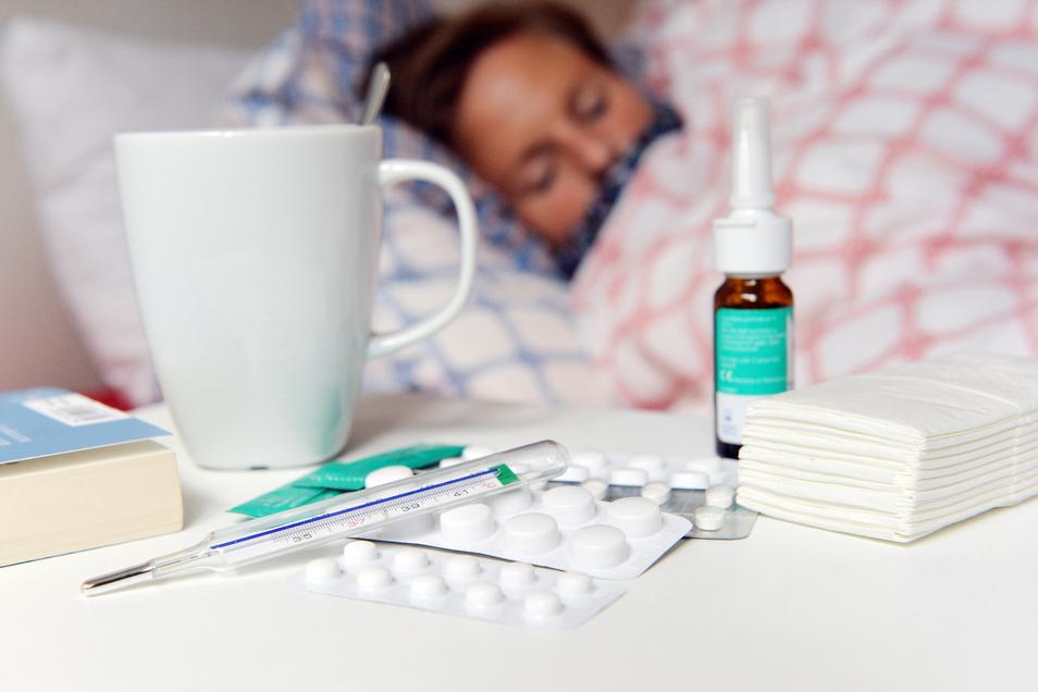 Die Zahl der Grippefälle im Landkreis Bautzen ist  rückläufig - mittlerweile seit zwei Wochen.
