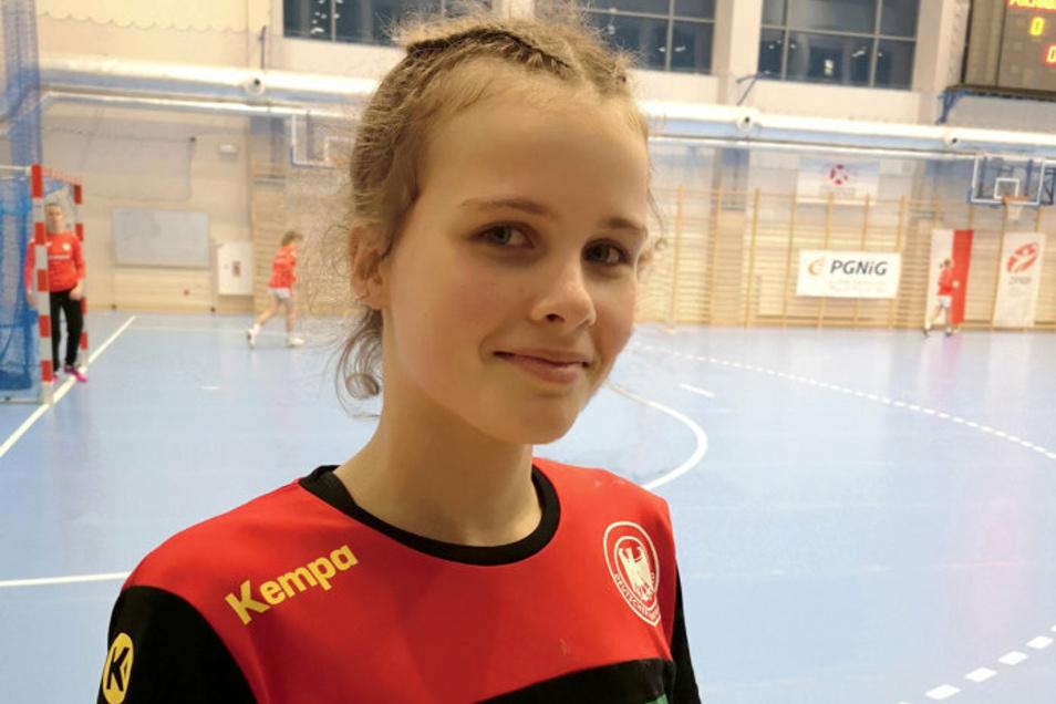 Erste Hoyerswerdaerin, die zu einer Handball-Europameisterschaft fährt: Vanessa Huth, mit dem HC Rödertal auch in der 2. Bundesliga.