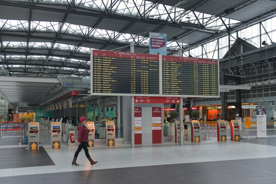 Der Flughafen Dresden schnitt zumindest nicht ganz schlecht bei der Umweltstudie ab.