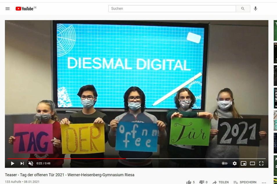Mit einem Video will das Werner-Heisenberg-Gymnasium Viertklässler und ihre Eltern auf sich aufmerksam machen.