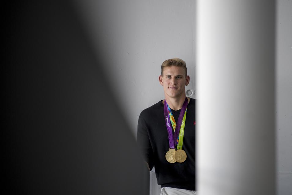 Karl Schulze hat zwei olympische Goldmedaillen gewonnen. Sollte ihm der Triumph 2021 noch einmal gelingen, wäre der dann 33-Jährige der erste deutsche Ruderer überhaupt, der drei Olympiasiege in Folge in einer Bootsklasse vorweisen kann.