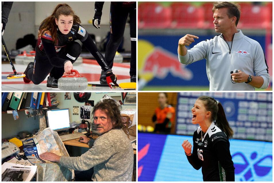 Die Protagonisten des Sport-Mittwochs: Klara-Hermine Fomm, Jesse Marsch, Götz Wiegand und Sophie Dreblow.