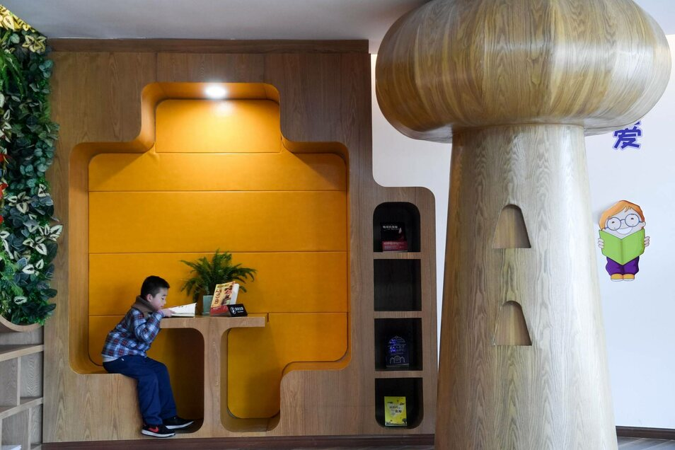 Eine Bibliothek inHeifei, China.