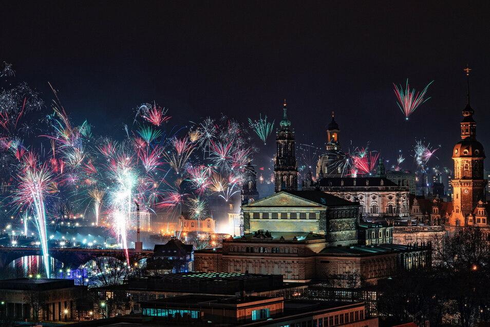 Diese schönen bunten Bilder wird es zu diesem Jahreswechsel in Dresden nicht geben.