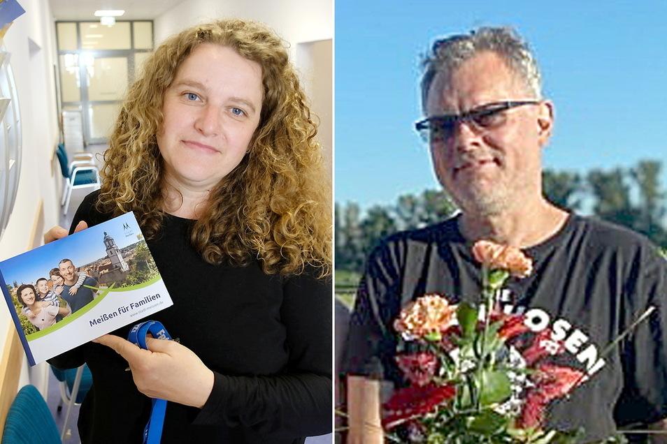 Andrea Beger und Jürgen Schmidt stellen sich am 26. September für das Bürgermeisteramt zur Wahl.