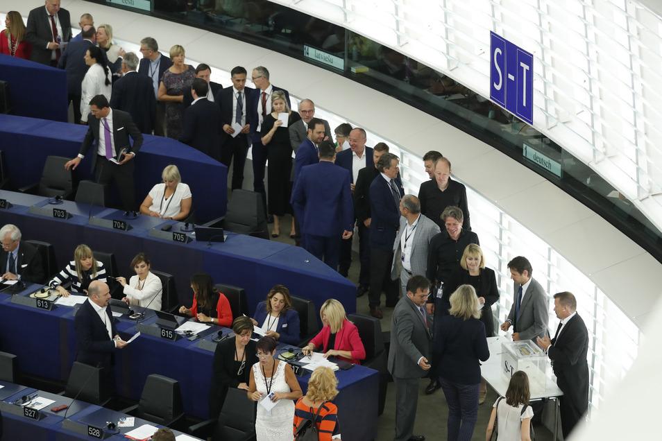 Die Mitglieder des Europäischen Parlaments stehen am Mittwoch an, um einen neuen Präsidenten zu wählen.