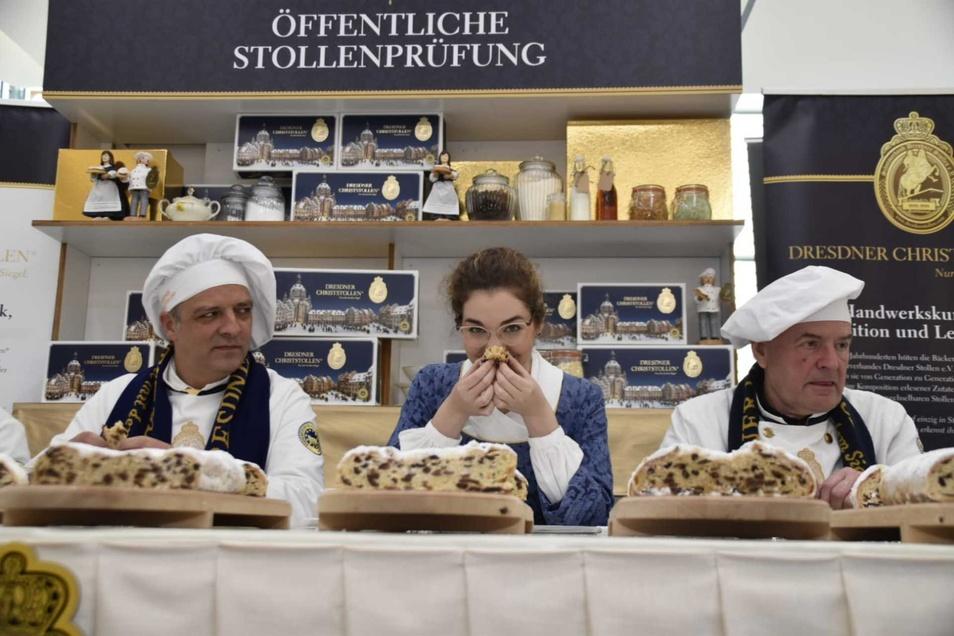 Die strenge Jury bei ihrer Arbeit in Dresden.
