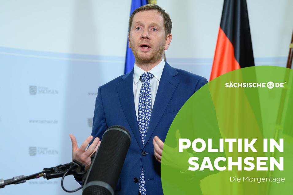 Sachsens Ministerpräsident Michael Kretschmer (CDU) kündigt schärfere Corona-Maßnahmen an.