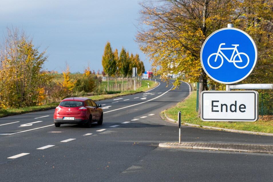 Zwischen Leisnig und Brösen fehlt ein Radweg an der neu ausgebauten S44 genauso wie weiterführend in Richtung Podelwitz.