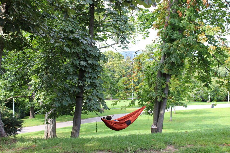 Im Riegrovy sady lässt es sich prima entspannen.