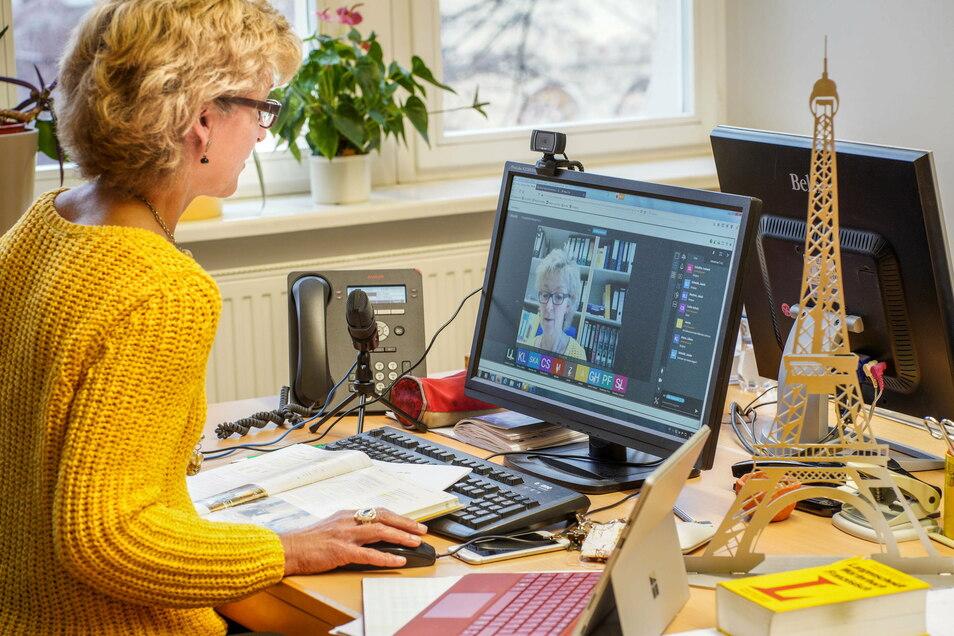 Ines Strümpe, stellvertretende Schulleiterin am Bautzener Philipp-Melanchthon-Gymnasium, geht davon aus, dass auch nach Corona der Unterricht digitaler gestaltet wird.