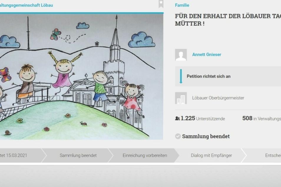 Quorum erreicht - Sammlung abgeschlossen: Die Online-Petition der Löbauer Tagesmütter hatte Erfolg.