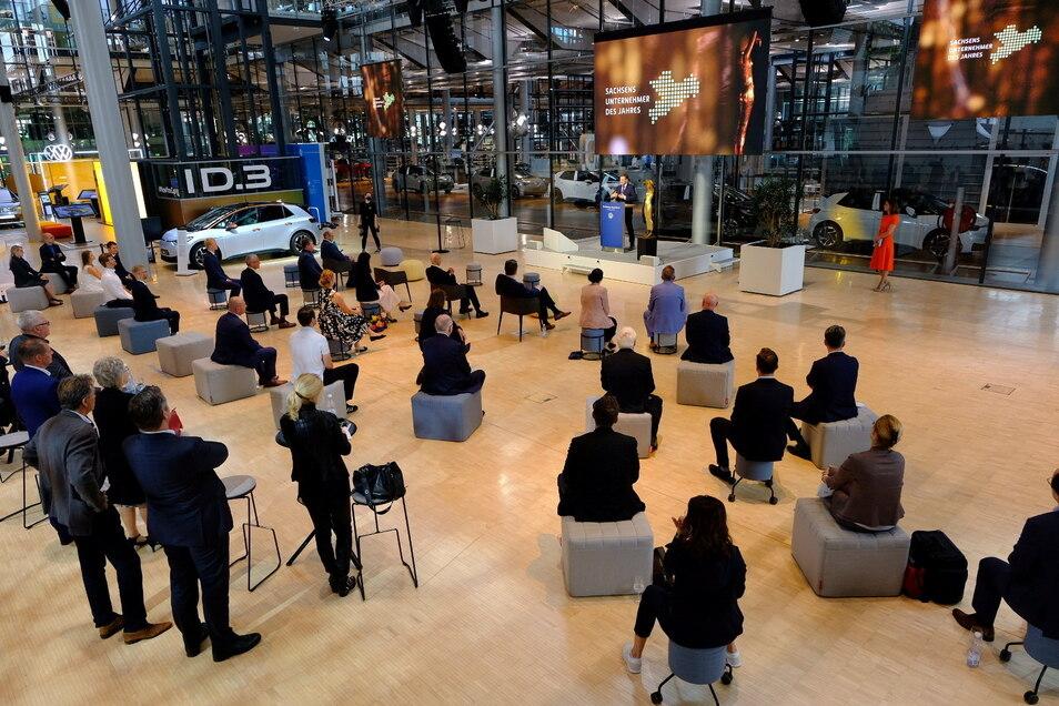 Auch in diesem Jahr nur in kleinem Rahmen: Die Verleihung der Preise in der VW-Manufaktur.