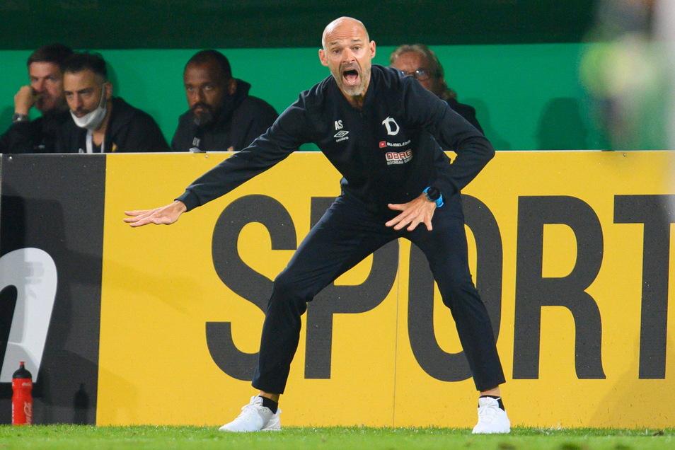 Alexander Schmidt ist nach gut hundert Tagen im Amt noch immer ungeschlagen, die Serie soll heute bestehen bleiben. Engagiert ist auch der Cheftrainer bei der Sache.