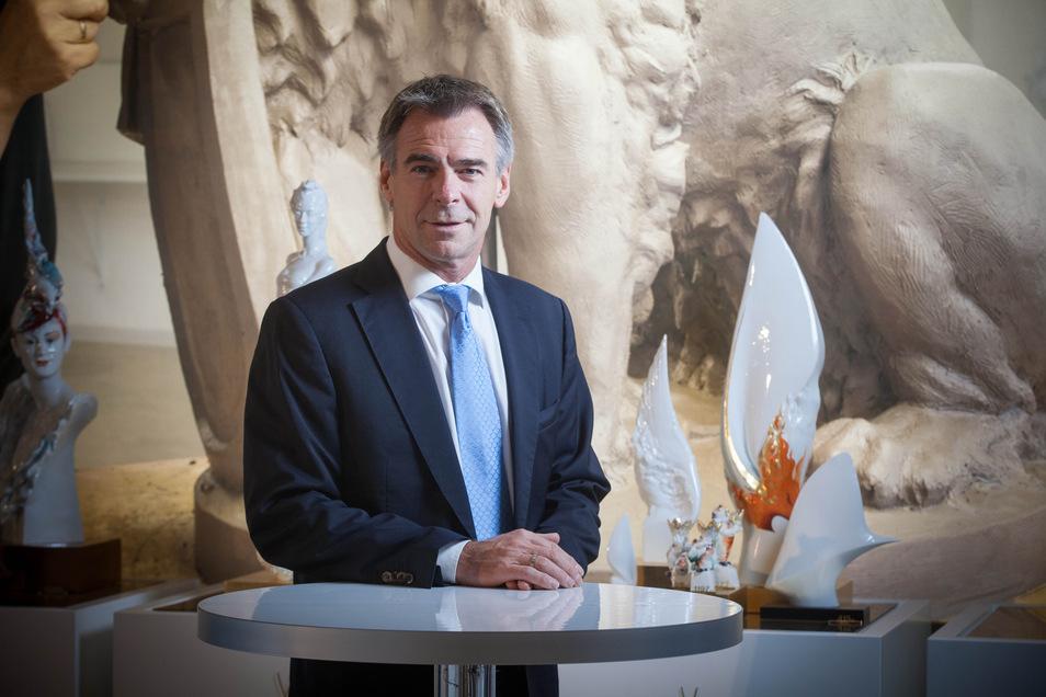 Der Chef der Porzellan-Manufaktur in Meißen, Tillmann Blaschke hofft, dass das Unternehmen aus der Krise gestärt hervorgeht.