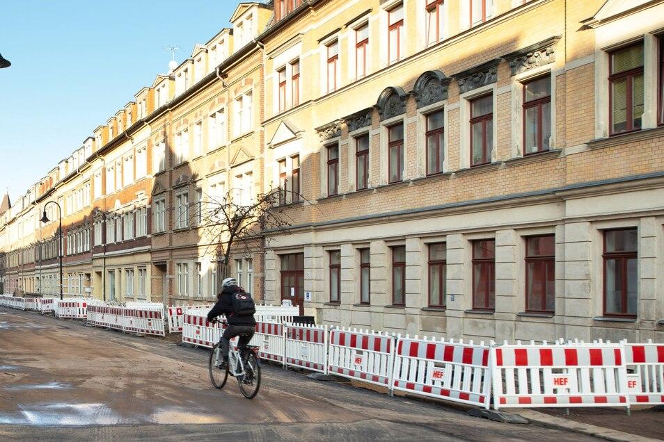 In Pieschen sollen Hunderte Wohnungen an die WID gehen, auch auf der Leisniger Straße.