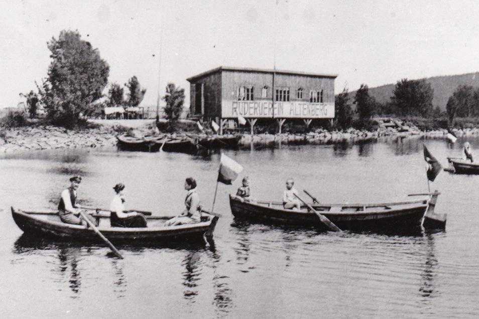 Auch zu DDR-Zeiten konnte man per Boot die Wasserfläche erobern.