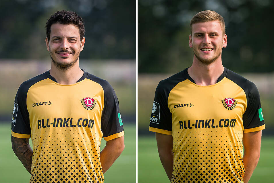 Philipp Hosiner und Christoph Daferner sind beide neu bei Dynamo - und beide Mittelstürmer haben in den bislang vier Testspielen nicht getroffen. Wer kann seine Chance nutzen?