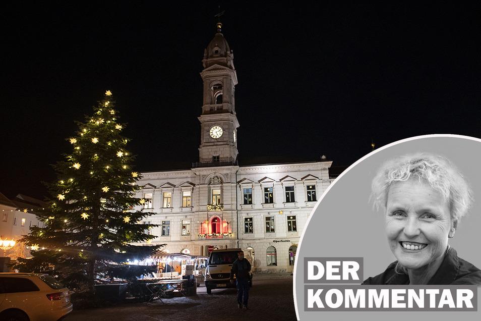 Vorweihnachtliches Großenhain: In diesem Jahr so wie in vielen Gemeinden und Städten im Großenhainer Land etwas verhaltener und leiser.