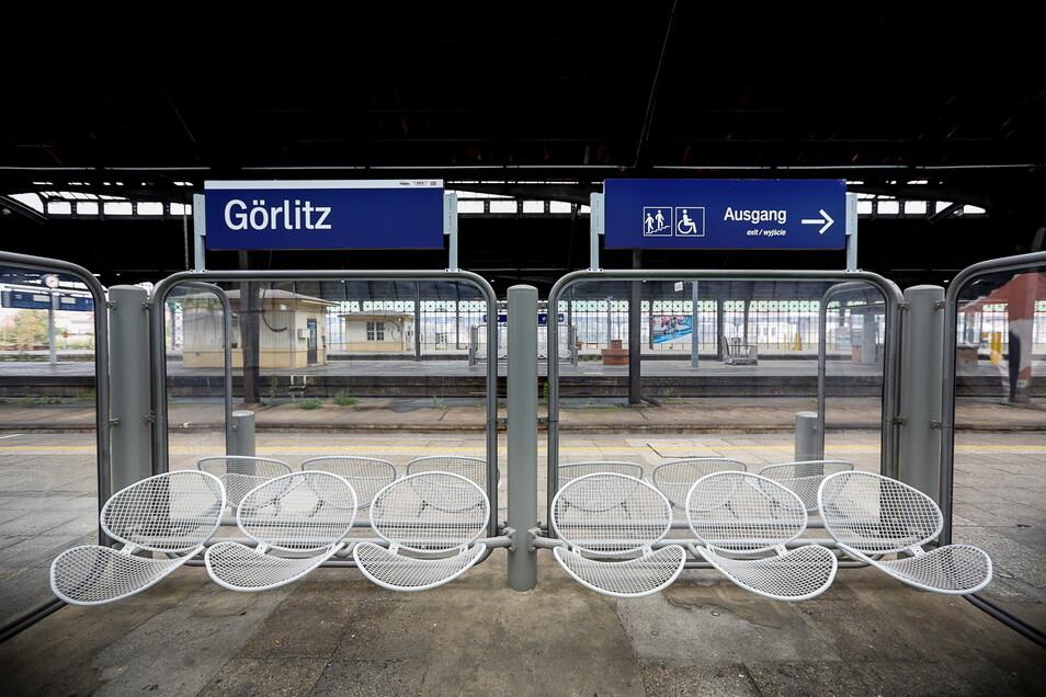 Kaum noch was rollt ab Mittwoch: Bahnhof Görlitz bei einem früheren Bahnstreik.
